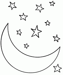 nature templates simple snowflake lightning moon and stars and