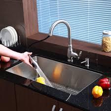 kraus sinks allinone undermount stainless steel 32 in single kraus 32 inch undermount single bowl 16 gauge stainless steel kitchen sink with kitchen