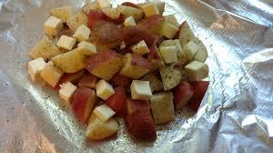 backyard bbq foil potatoes c is for coconut