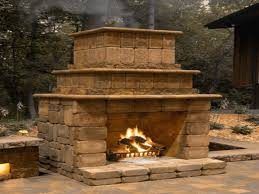 how to build outdoor fireplace home and gardening how to build an
