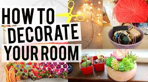 easy cheap and cute ideas to decorate your room youtube