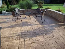 Textured Concrete Patio by Patios And Pool Decks In Decorative Concrete