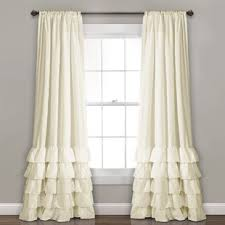 Curtains With Ruffles White Ruffled Curtains Wayfair