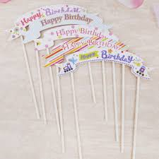 cake topper banner happy birthday cake topper banner flag cupcake cake flags baby