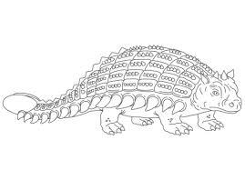 ankylosaurus armored dinosaur coloring page free printable