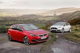 peugeot gti peugeot 308 gti versus ford focus st comparison autocar