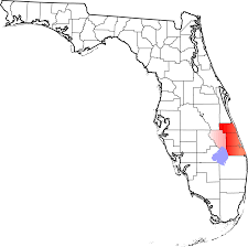 Map Of Florida Coast by File Map Of Florida Highlighting Treasure Coast Svg Wikimedia
