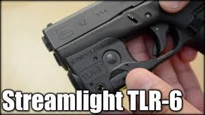 glock 19 light and laser streamlight tlr 6 light laser glock 42 43 youtube