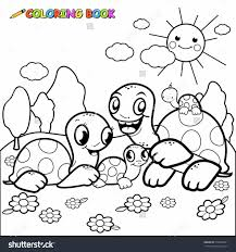 coloring page turtle vector shutterstock cute cute turtle coloring pages turtles