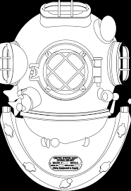 casco palombaro diving helmet hunky dory svg colouringbook org