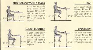 standard seat height home design engaging bar stool measurements for height