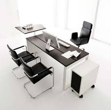 office tables designs table ideas dark brown wooden u shape office