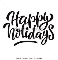 lettering inscription happy holidays golden stock vector