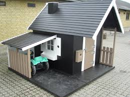 House With Carport Perfect Playhouse With Carport Http Www Legehytten Dk Global