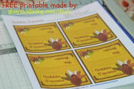 thanksgiving crafts gobble smores free printable