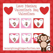 monkey valentines free printables beauty through imperfection