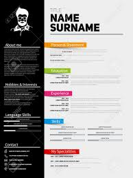 Curriculum Vitae Resume Template Minimalist Cv Resume Template With Simple Design Company