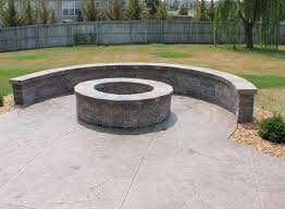 Stamped Concrete Patio Diy How To Build Diy Concrete Patio In Easy Steps With Firepit Trends