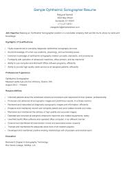 Best Ultrasound Resume by Ultrasound Resume Examples