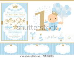 happy first birthday card download free vector art stock