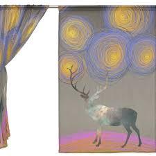 online shop 2 pieces creative elk with van gagh starry night