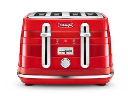Red Kettle And Toaster Avvolta Breakfast Kettles Toasters Delonghi