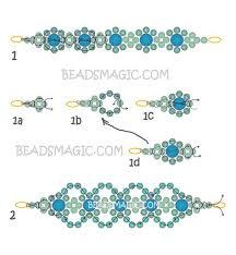 free beaded bracelet pattern images Free pattern for bracelet lime beads magic beading pinterest jpg