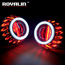 halo rings red images Royalin drl double angel eyes led cob halo rings mini projector jpg