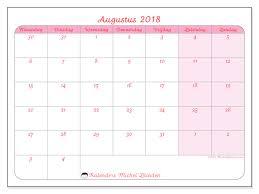 Kalendar 2018 Nederland Kalender Om Af Te Drukken Augustus 2018 Rosea Nederland
