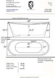 Bathroom Design Dimensions by Freestanding Bathtub Sizes 36 Winsome Bathroom Set On Freestanding