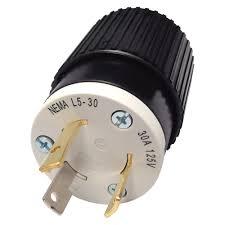reliance generator locking plug u2014 30 amps 125 volts l5 30 male
