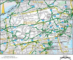 map of pa pennsylvania map