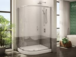glass door website fleurco u0027s half round three frameless curved glass sliding shower