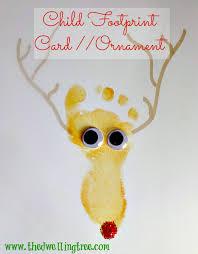 child footprint keepsake ornament reindeer craft