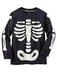 skeleton t shirts halloween long sleeve glow in the dark skeleton bones halloween tee