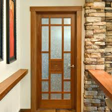 Interior Doors With Glass Panel Wood Interior Door With Glass Appex Wood