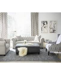 White Tufted Loveseat Martha Stewart Collection Saybridge Loveseat Furniture Macy U0027s