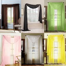 Valance For Windows Curtains Sheer Voile Window Curtains Solid Scarf Valance Brand New Drape