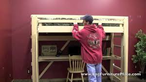 Make Loft Bed With Desk by Ez Living Loft Bed Easily Make Your Loft Bed Without Strain