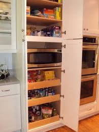 Kitchen Pantry Furniture Perfect Way To Hide The Microwave And Still Make It Very