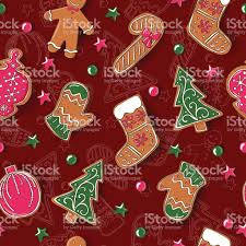 seamless pattern with christmas cookies vector stock vector art