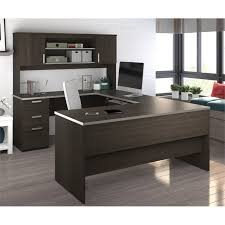 Office Desk Configurations Bestar Ridgeley U Shaped Desk In Chocolate 52414 79