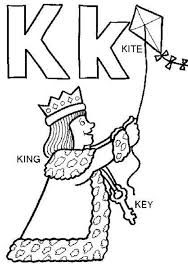 alphabet coloring pages free kite alphabet coloring pages