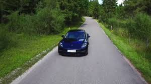 porsche night blue porsche panamera 4s diesel driving video in night blue metallic