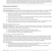 Resume For Bookkeeper Bookkeeping Resume Sample U2013 Topshoppingnetwork Com