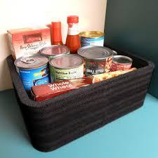 kitchen food storage cupboard polar whale large food storage organizer bin tray for
