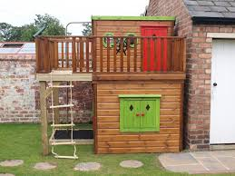 Backyard Playhouse Ideas Sensational Playhouse From Wooden Design Inspiration Identify