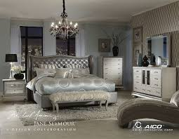 4 piece california king bedroom set hollywood swank by aico amini