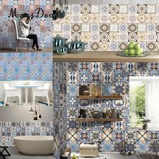 magideal traditional wall tile stickers stick on wall tile magideal traditional wall tile stickers stick on wall tile transfers kitchen bathroom oil proof waterproof in wall stickers from home garden on