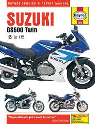 suzuki gs500 twin 487cc 89 08 haynes repair manual haynes manuals